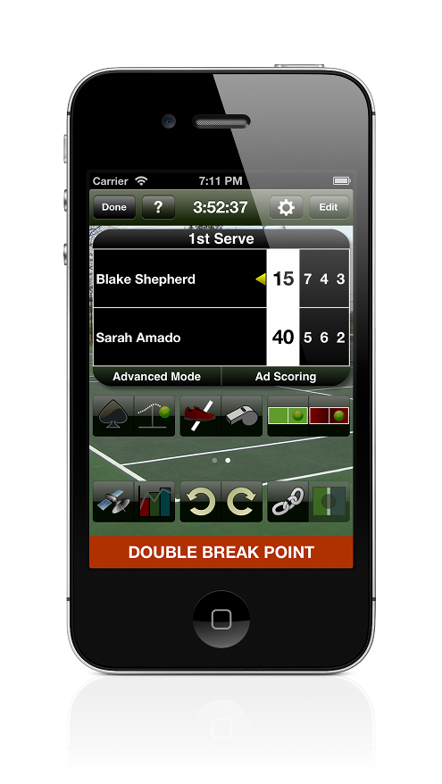 Mobile Tennis Scoring - Detailed Statistics - Tennis Score